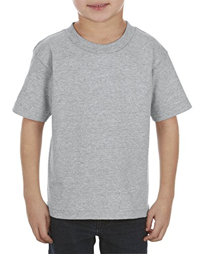 Juvy Heather T-shirt - Alstyle Apparel AAA Little Boys' Juvy Classic T-Shirt, Athletic Heather Gray, 7