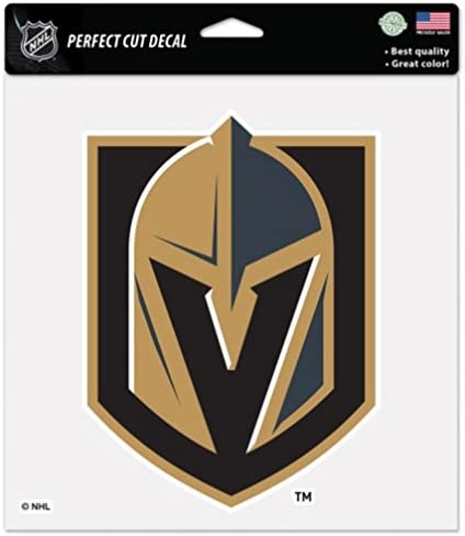 WinCraft NHL Las Vegas Golden Knights Logo 3 x 5 inch Silver Metallic Decal