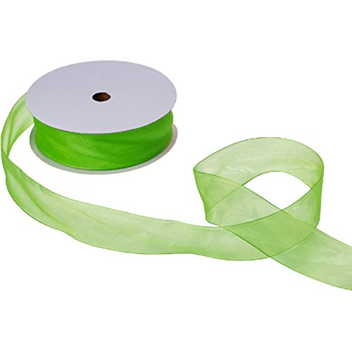 Jillson & Roberts Organdy Sheer Ribbon, 1 1/2'' Wide x 100 Yards, Lime by Jillson Roberts