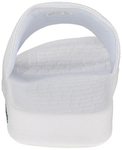 Lacoste Mens Fraiser BRD1 Platform Sandal White/Green ugjJT