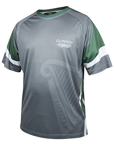 GUINNESS Green & Grey Signature Performance Soccer Jersey,Grey,X-Large ()
