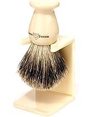 Edwin Jagger shavers, Best Badger Shaving Brush With Drip Stand, Imitation Ivory, Medium