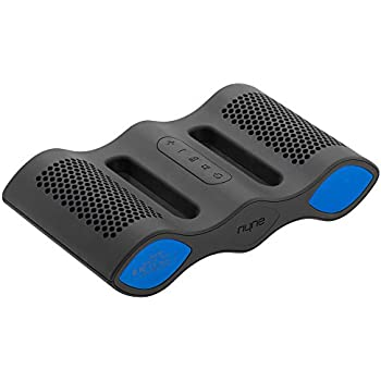 NYNE Aqua IPX7 Rated Waterproof Floating Portable Bluetooth Speaker with Built in Hands free Microphone (Grey / Blue)