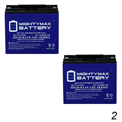 Mighty Max Battery 12V 18AH Gel Battery for Datascope 95 Balloon Pump - 2 Pack Brand Product