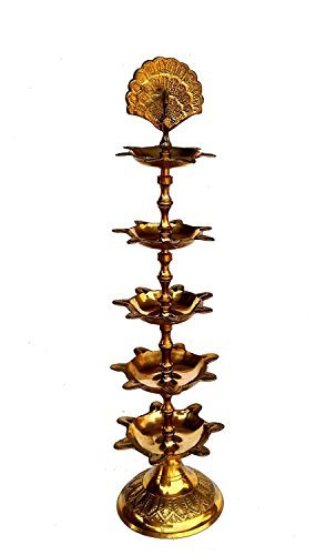 Rastogi Handicrafts Pure Brass Diya (Puja Lamp) Hindu Pooja Article ,Diyas , Deepak Oil Lamp (Home Decorative Item)