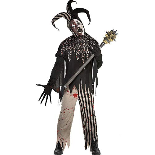 amscan Twisted Jester Halloween Costume for Men, Standard, with Included Accessories