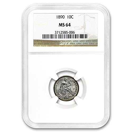 1890 Liberty Seated Dime MS-64 NGC Dime MS-64 NGC