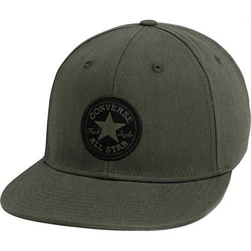 Converse Unisex Core Classic Twill Curved Baseball Cap (Olive/Black Patch, One Size)