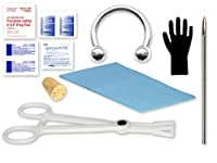 "Single Septum Piercing Kit Includes:1- Cork 1 - 14g Needle 1 - 14g ½"" Circular Barbell 1 - Disposable Forceps 1 - Patient Bib 1 - Sani Hands Packet 1 - Iodine Prep Pad 2-large Alcohol Prep Pads 2-surgilube Packets 1-pair of Gloves Eg Gifts"