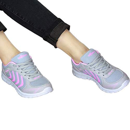 Running Chaussures Unisexe Randonnée Fitness Compétition Adulte De Baskets Femme À Entraînement Respirant Zezkt Mode Sneakers Course Mixte Rose Sport HxBFqq