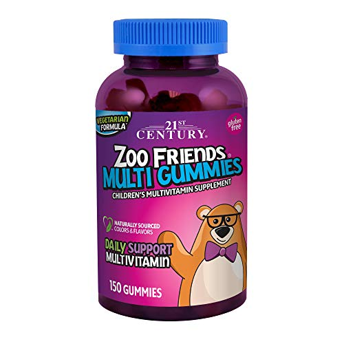 21st Century Zoo Friends Multi Gummies, Fruit, 150 Count