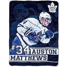 NHL Auston Matthews Toronto Maple Leafs Player Micro Throw Blanket