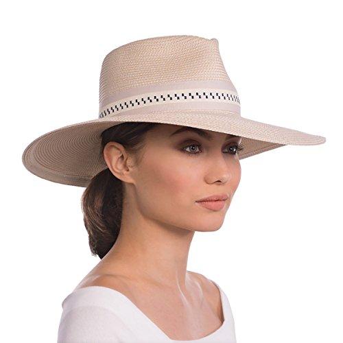 Eric Javits Luxury Fashion Designer Women's Headwear Hat - Daphne - Cream/Navy by Eric Javits