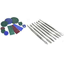 11Pc Jewelers Jewelry Wax Assortment & 7 Art Carver Carving Sculpting Tools