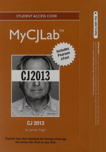 MyCJLab with Pearson eText -- Access Card -- for CJ 2013