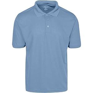 Mens Light Blue Drifit Polo Shirt Large