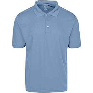 Premium Mens High Moisture Wicking Polo Cleaning Shirts