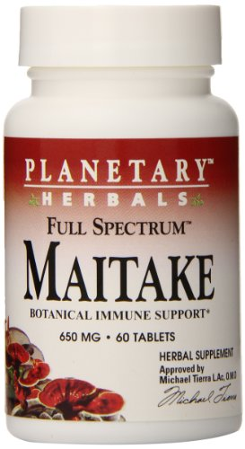 - Planetary Herbals Full Spectrum Maitake Mushroom Tablets, 600 mg, 60 Count