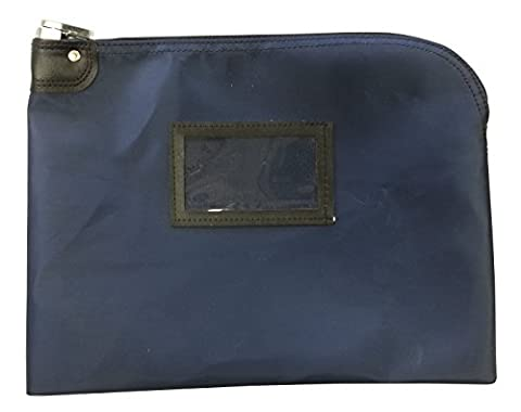Locking Document Security HIPAA Bag 11 x 15 (Navy Blue) - Locking Security Bags