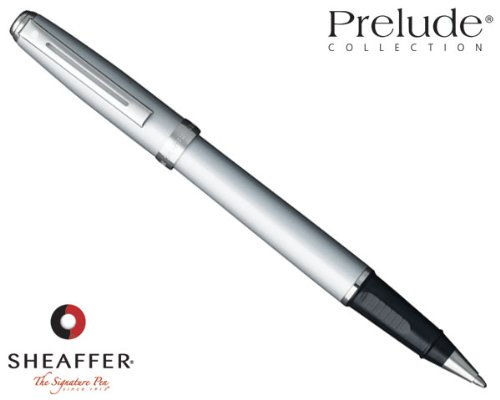Plated Silver Ball Roller - Sheaffer Prelude Roller Ball, Silver Shimmer with Nickel Plated Trim, Blue Refill (SH/9137-1 )