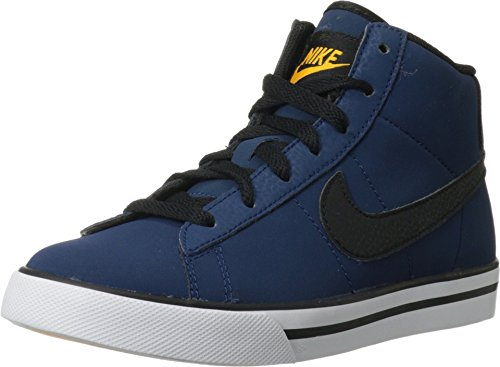 Nike Kids Sweet Classic High (GS/PS) Brave Blue/Blk/Lsr Orng/White Casual Shoe 5 Kids US