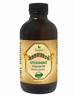 SPEARMINT ESSENTIAL OIL 4 OZ Organic Therapeutic Grade A Wellness Relaxation 100% Pure Undiluted Steam Distilled Natural Aroma Premium Quality Aromatherapy diffuser Skin Hair Body Massage