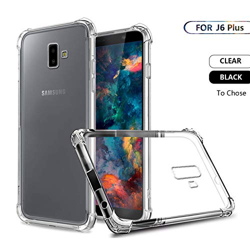 Samsung Galaxy J6 Plus Case,SCL Samsung Galaxy J6 Plus TPU Case,Case-Crystal Clear Shock Absorption Technology Bumper Anti-Scratch Soft TPU Back Cover Case for Samsung Galaxy J6 Plus, HD Clear