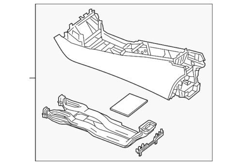Mercedes Benz Genuine Console Assembly 222-680-29-04-9H15