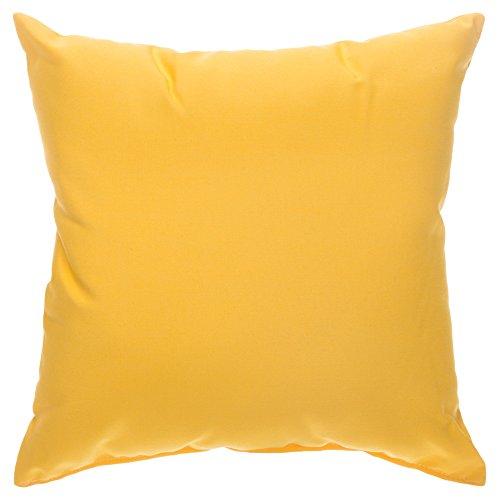 Pawleys Island Sunbrella Outdoor Throw Pillow - Sunflower Yellow 18 in. x 18 - Gardens Island Pawleys