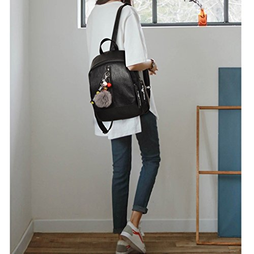 ZCM Double en femelle à option Noir rue souple Style sac couleurs tendance 2 dos à cuir mode simple Collège bandoulière sac féminine personnalité PU en Simple FFwdgr