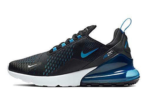 (Nike Mens Air Max 270 Running Shoes Black/Photo Blue/Pure Platinum AH8050-019 Size 10.5 )