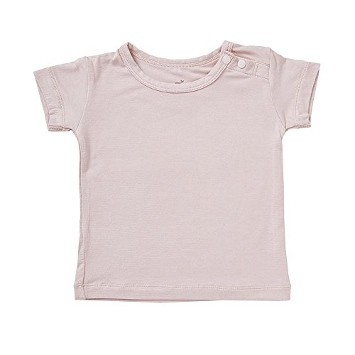Boody Body Baby EcoWear T-Shirt - Soft Cooling Infant Tee made from Natural Organic Bamboo - Soft Breathable Eco Fashion for Sensitive Skin - Rose Pink, 6-12 months