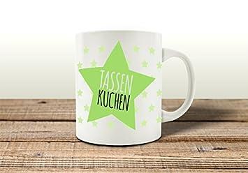 Tasse Kaffeebecher Tassenkuchen Stern Grun Kuchen Mikrowelle