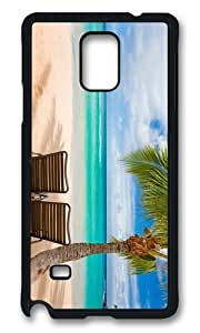 MOKSHOP Adorable chilling under palms Hard Case Protective Shell Cell Phone Cover For Samsung Galaxy Note 4 - PCB
