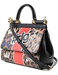 Women's BB6002AN734HAI90 Multicolor Leather Handbag