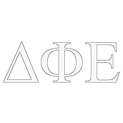 (Delta Phi Epsilon DPHIE Greek Letter Window Sticker Decal)