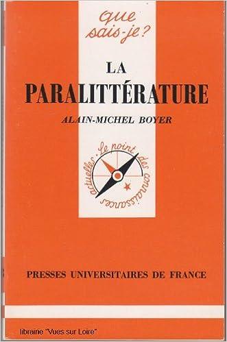 Téléchargement La paralittérature epub, pdf