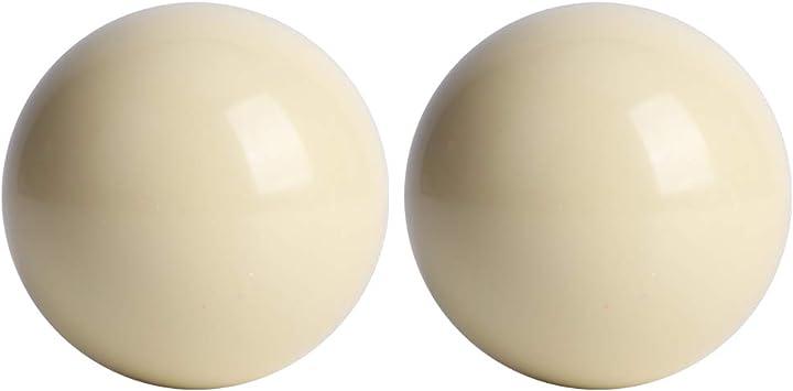 Bola de entrenamiento Pool Cue, 2 piezas Bolas de billar blancas Billard Bola de entrenamiento Pool
