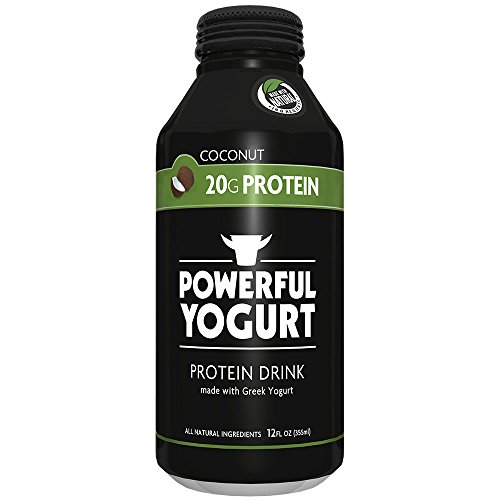 Powerful | Coconut | High Protein Greek Yogurt Drink | Gluten-Free | Natural Ingredients | 20g Protein (12 Count)