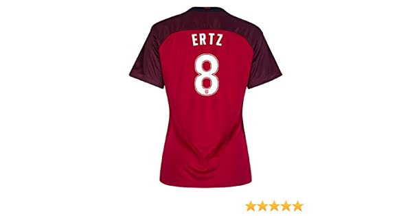 Amazon.com  Eds Sports Red Julie Ertz Julie Johnston 2017 Womans Soccer  Jersey (Small)  Clothing 710a5dca9
