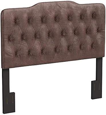 Pulaski Upholstered Soft Shape Headboard, King, Velvet Slate Grey