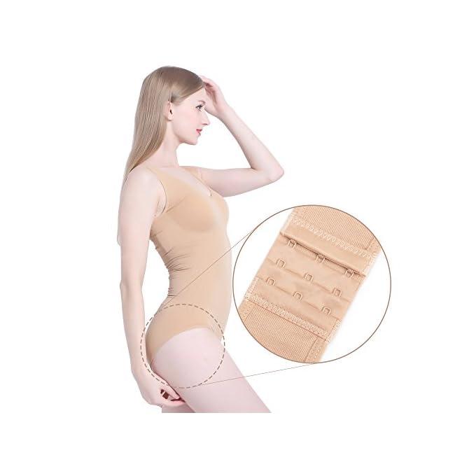 bfcd9b3f45c77f LastFor1 Women's Shapewear Seamless Slimming Tummy Control Bodysuit Tank  Briefs