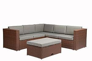 Magari muebles mag35completa Patio jardín 4piezas de profundidad juego de grupo de asiento con cojín