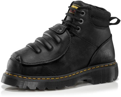 (Dr. Martens Men's Ironbridge MG ST Steel-Toe Met Guard Boot,Black,6 UK/7 M US)