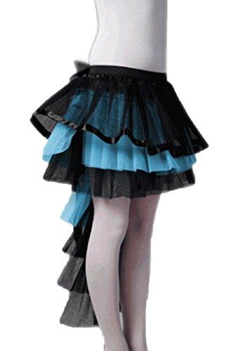 Rimi Hanger Ladies Long Tail Burlesque Tutu Skirt Womens Fancy Dress Parties (One Size Fit US 4-10, Turquoise)