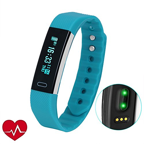 Fitness Tracker,LUCOG Smart Band Health Tracker with Accurate Heart Rate Monitor and Sleep Monitor and Pedometer-Extra Bright OLED Screen-Best Personal Activity Tracker for Android and iOS