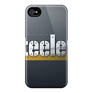 Slim Fit Hard Protector Shock Absorbent Bumper Pittsburgh Steelers Case For Iphone 4/4s