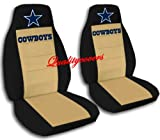 2 Black and Tan Cowboy seat covers for a 2008 Lincoln Navigator. Side Airbag friendly.