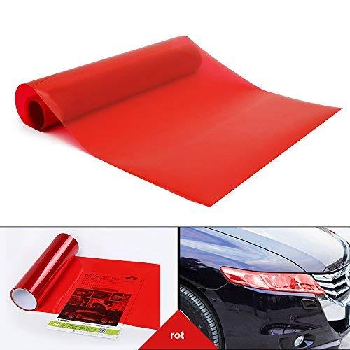 YAOBLUESEA Scheinwerfer T/önungsfolie Auto Folie R/ückleuchten Nebelscheinwerfer Aufkleber rot 200x30cm
