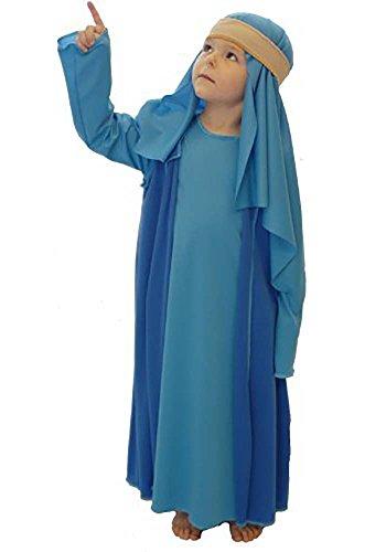 Nativity-Bible-World Book Day Blue Shepherd/Joseph Child's Fancy Dress Costume All Ages (Teen)